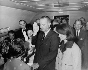 LBJ swearing in
