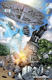 Cylon attack on Washington D.C.