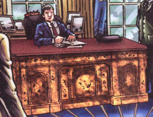 President at the Resolute desk