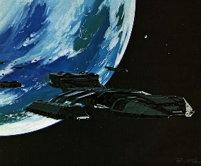 Ralph McQuarrie painting of the Galactica